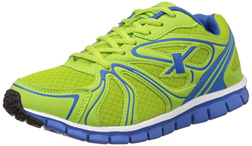 Sparx Men's Flourscent Green and Royal Blue Running Shoes - 7 UK/India (40.67 EU) (SX0206G)