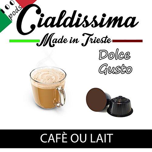 Choose Cialdissima Dolce Gusto Café Au Lait, compatible capsules (Total 100 Capsules, 100 servings) by Nestle Dolce Gusto Café Au Lait