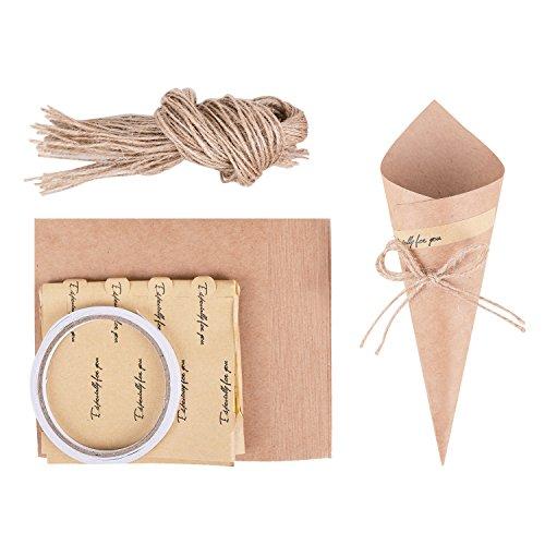 Wolfteeth 50 pz Coni portariso portaconfetti bomboniere Matrimonio Confetti Scatole per Compleanno Battesimo Comunione Bouquet Caramella