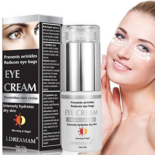 Augenringe Creme,Augencreme Falten,Anti Aging Augenfaltencreme,Antialterung Augencreme-Augenbehandlung für Unter Augenfalten, dunkle Kreise, kräht Füße und geschwollene Augen.