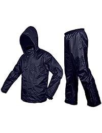 Nayka Premium Plain Rain Coat (XL- Free size) Blue