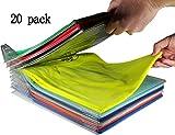 Kleiderschrank Organizer, Closet Organizer and Shirt Folder, schubladen organizer   Regular Size 20-Stück