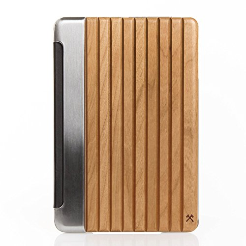 Woodcessories - EcoGuard iPad Case - Premium Design Cover, Hülle für das iPad aus echtem Holz (iPad Mini 4, Kirsche, Hardcover transparent)