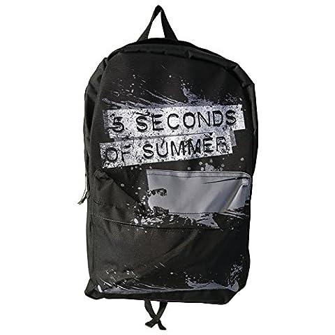 5SOS 5 Seconds of Summer Backpack bag Distressed Splatter Logo officiel Noir