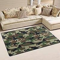 COOSUN Camouflage Pattern Area Rug Carpet Non-Slip Floor Mat Doormats for Living Room Bedroom 31 x 20 inches