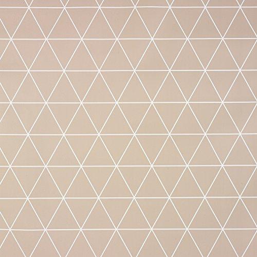 Tortora geometrico triangoli in vinile pvc tovaglia in rotondo, quadrato o rettangolare, round 140cm (55