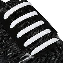 Inmaker - Cordones para zapatillas de niños y adultos, silicona, planos, elásticos e impermeables