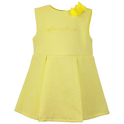 Agatha Ruiz de la Prada Baby Mädchen (0-24 Monate) Asymmetrischer Kleid Gelb gelb 64 cm