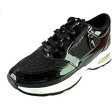 Zone3 Scarpe Ginnastica Uomo Donna Unisex Tela Sneaker Alte Casual Nero 119-146A (38) 9upNB