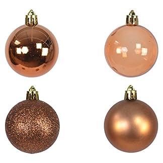 70-Set-Weihnachtskugel-mit-Kugelaufhnger-Kupfer-Bronze-Braun-Christbaumschmuck-Kugeln-Glnzend-Glitzer-Matt-Durchsichtig