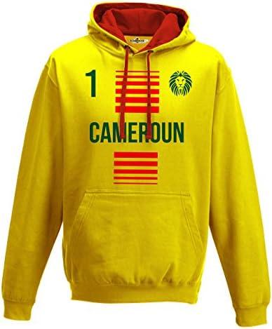 KiarenzaFD Felpa Cappuccio BiColoreeee Uomo Uomo Uomo Nazionale Sportiva Cameroun 1 Calcio Sport Africa | Ottimo mestiere  | Di Alta Qualità Ed Economico  | Shop  | Una Grande Varietà Di Merci  9966f2