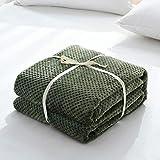 dDanke Tagesdecke Überwurf Weich Warm Kuschelig für Sofa/Bett Flanell-Fleece, grün, 150cm*200cm