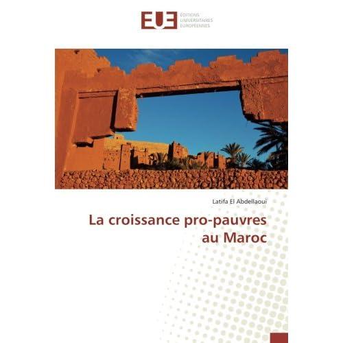 La croissance pro-pauvres au Maroc