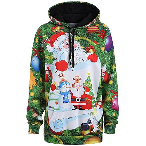 Sonnena Damen Weihnachten Kapuzen Sweatshirt Kostüm Schneemann Druck Langarm Hoodies Pullover Kapuzenpullover Casual Lose Hoody Bluse Pulli Frauen Winter Herbst Warme Kapuzenpulli Outwear
