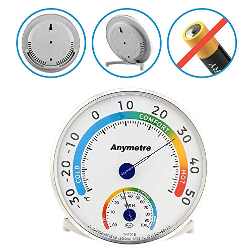 AGM Thermometer Hygrometer, Luftfeuchtigkeitsmesser Außenthermometer Hygrometer Durchmsser 13 cm