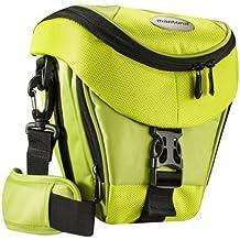 Mantona Premium - Funda para cámara reflex (correa para hombro, cierre de cremallera y clip), color verde limón