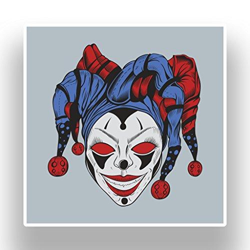 nyl Aufkleber Halloween Scary Horror # 7392 - 30cm/300mm Wide (Jester Halloween)