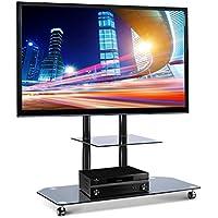 """Electronic Star Soporte de televisión LCD con base de cristal negro (de 37"""" a 50"""", 50 kg max, permite ocultar cables, aluminio no cromado)"""