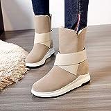 Phy Shoe Winter Schneestiefel Flache Stiefel Warm Large, Braun, 38