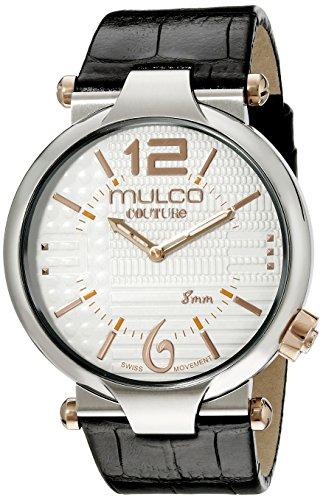 Mulco Men's MW5-3183-021 Couture Slim Analog Display Swiss Quartz Black Watch