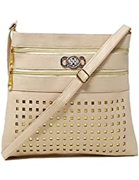 TYPIFY® Leatherette PU Cross Body Sling Bag For Women And Girls College Office Bag