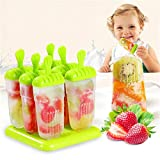 Generic Popsicles Mold Plastic Frozen Ice Cream Mold Popsicle Maker Lolly Mould Tray Maker Tool,6