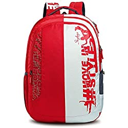 Skybags Pogo Plus Polyester 35 Ltrs Red School Bag
