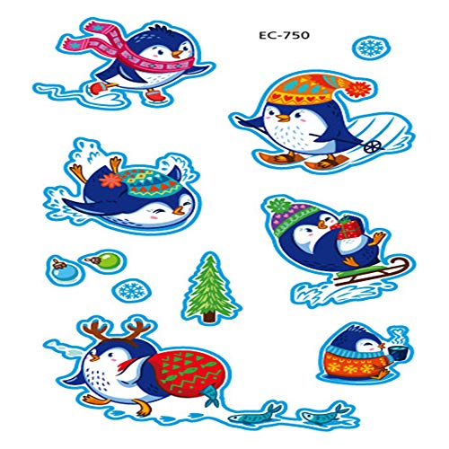 zgmtj Niedlicher Pinguin Tattoo Aufkleber EC-750 120 * 75mm