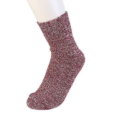 auen Stricken warme beiläufige Wolle Crew Winter Stiefel Socken Strumpfwaren Strümpfe passt für die meisten Erwachsenen ()