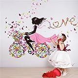 MJATOP Schön Blumenfee Wandkunst Schmetterling Wandaufkleber Für Prinzessin Mädchen Zimmer Kinderzimmer Wandtattoos Dekorationen (Blumenfee5)