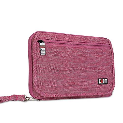 bubm-travel-gear-organiser-electronics-accessories-bag-card-holder-rose-red