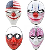CCOWAY Halloween Masken, Payday 2 Theme Horror Cosplay Party Masken