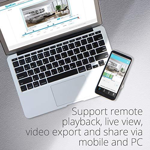 SpotCam 1080P Full-HD IP-Kamera – WLAN-Überwachungskamera Indoor mit Smart Home Integration - 4