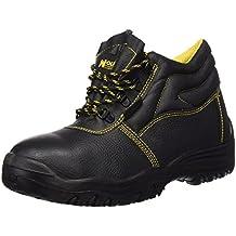 Wolfpack 15018030 - Botas seguridad piel, tamaño 42, color negro