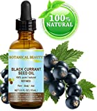 "BLACK CURRANT SEED OIL 100% Pure / Natural / Undiluted / Refined Cold Pressed Carrier Oil. 0.5 Fl.oz. - 15 ml. For Skin, Hair, Lip And Nail Care. ""One Of The Richest In Gamma-Linolenic Acid, Omega 3, 6 And 9 Essential Fatty Acids"". by Botanical Beauty."