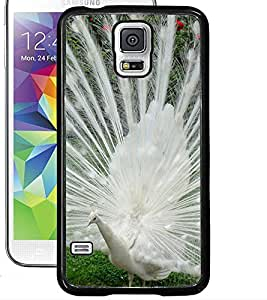 ColourCraft Dancing White Peacock Design Back Case Cover for SAMSUNG GALAXY S5