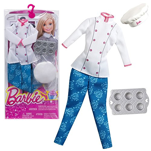 Mattel Kleidung Pastry Chef | Barbie CHJ30 | Mode Set Puppen-Kleidung (Chef Pastry)