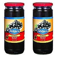 Abbie's Black Olive, Plain, 450g (Pack of 2)