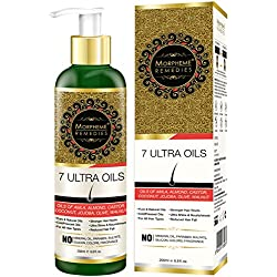 Morpheme Remedies 7 Ultra Hair Oil With Almond, Jojoba, Castor, Coconut, Olive Oils - 200 ml
