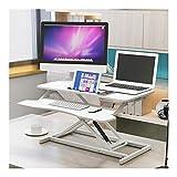 Verstellbarer Tisch Stand-up-Computer Hubtisch Notebook Desktop-Computer Desk Stand Büro Workbench Desktop-Erhöhung Shelf (Color : White)