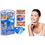 takestop® KIT TRATTAMENTO SBIANCANTE DENTI WHITELIGHT E LAMPADA PLASMA UV TARTARO GEL
