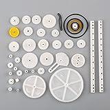 34x Zahnrad Set Zahnstangen Antriebsrädchen Kunststoff Zahnräder Modellbau Neu