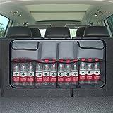 GFYWZ Kofferraum-Organisator, Wasserdichte Oxford-Stoff-Rücksitz-Speicher-Stamm-Organisator-Fracht-Tasche, Selbstzubehör,Gray2