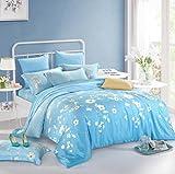 Sucastle,Bettwäsche Eine Vierköpfige Familie Fashion Bedding,Tencel,Bed Width:180cm