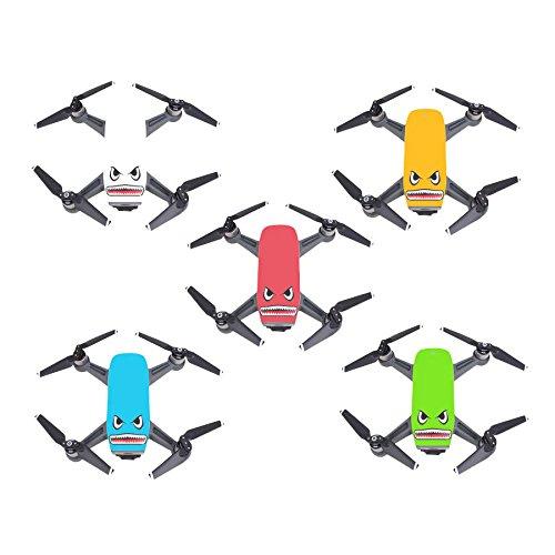 Skryo Shark Sticker Flim Aufkleber Eyes Skin Waterproof Set für DJI Spark Mavic Pro Drone