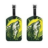 COOSUN Lobo Howling1 Etiquetas de equipaje de viaje Etiquetas Titular Nombre de la etiqueta...