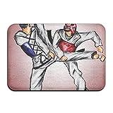 bvncfghjdfgj Non-Slip Stain Fade Resistant Door Mat Taekwondo Kick Living Dining Room rug