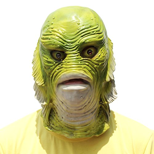 PartyCostume Deluxe Neuheit-Halloween-Kostüm-Party-Latex-Tierkopf-Schablone Masken Monster - (Masken Monster)
