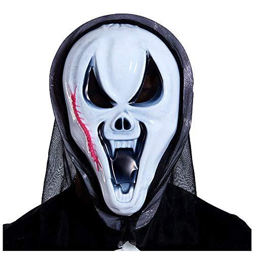 YaPin Halloween Red Skorpion Maske Horror Kopfbedeckungen Devil Mask Scream Lustige Scary Grimace Skeleton Scream Mask (Devil Scary Mask)