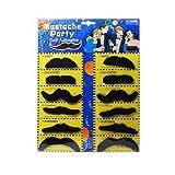 Lot de 12 Fausses Moustaches Amusantes de Tailles Différentes Pour Halloween